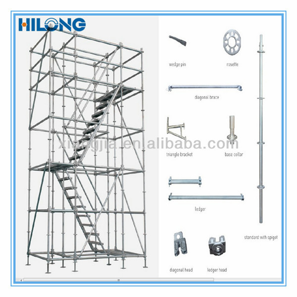 System Scaffold Components : Sgs approval q steel ringlock scaffold for construction