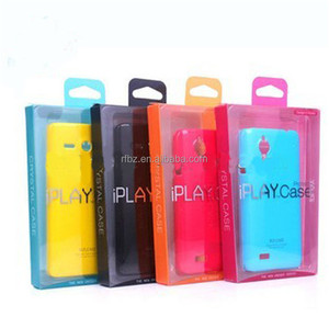 small clear pvc/pet phone protect case package boxes