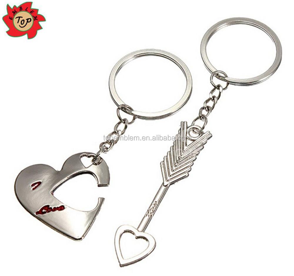 Très Porte - Clé Personnalisé Mode Amour Coeur Porte-clés Keyfob Couple  GD14
