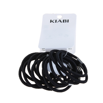F&J brand Wholesale thick Elastic polyester Hair Bands Bulk Hair ring accessories Women black hair accessories