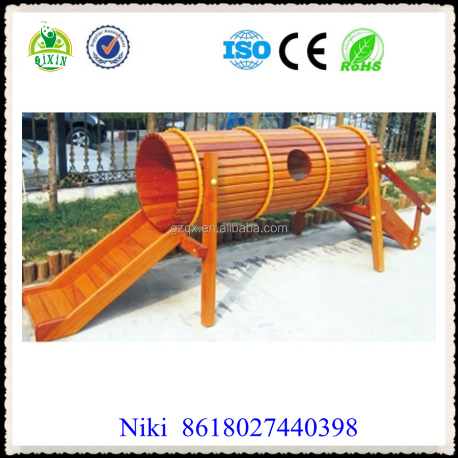 sports shoes ccdd5 dda7a Lovely Play Tunnel Kids Outdoor Wooden Playground Qx-18073f - Buy Wooden  Playground,Kids Outdoor Playground,Play Tunnel Product on Alibaba.com