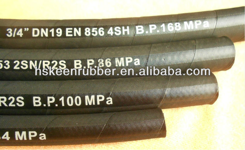 stainless Steel Spiral Hyraulic Rubber Hose EN856 4SH