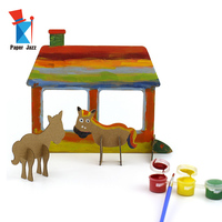 The Art of Cardboard,3D Cardboard Figurine Painting Kit for Kid
