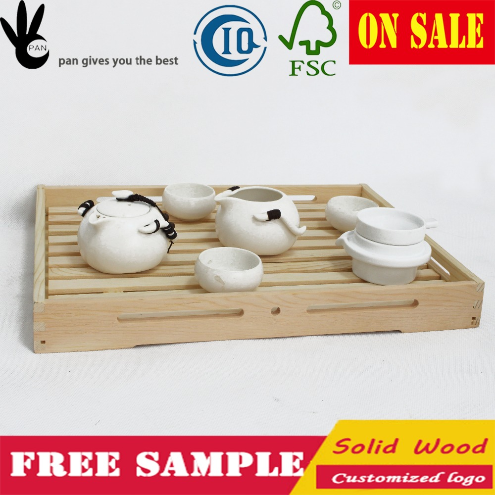 Pan Natural Japanese Wooden serving gongfu tea tray , wooden tray