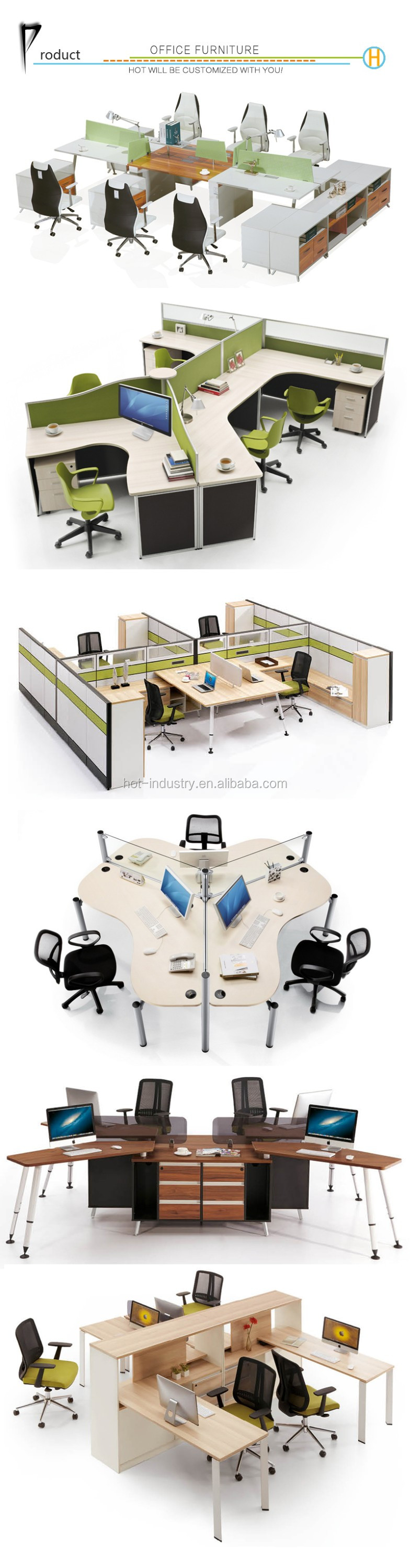 High Quality Person Office Workstation Office Furniture Can