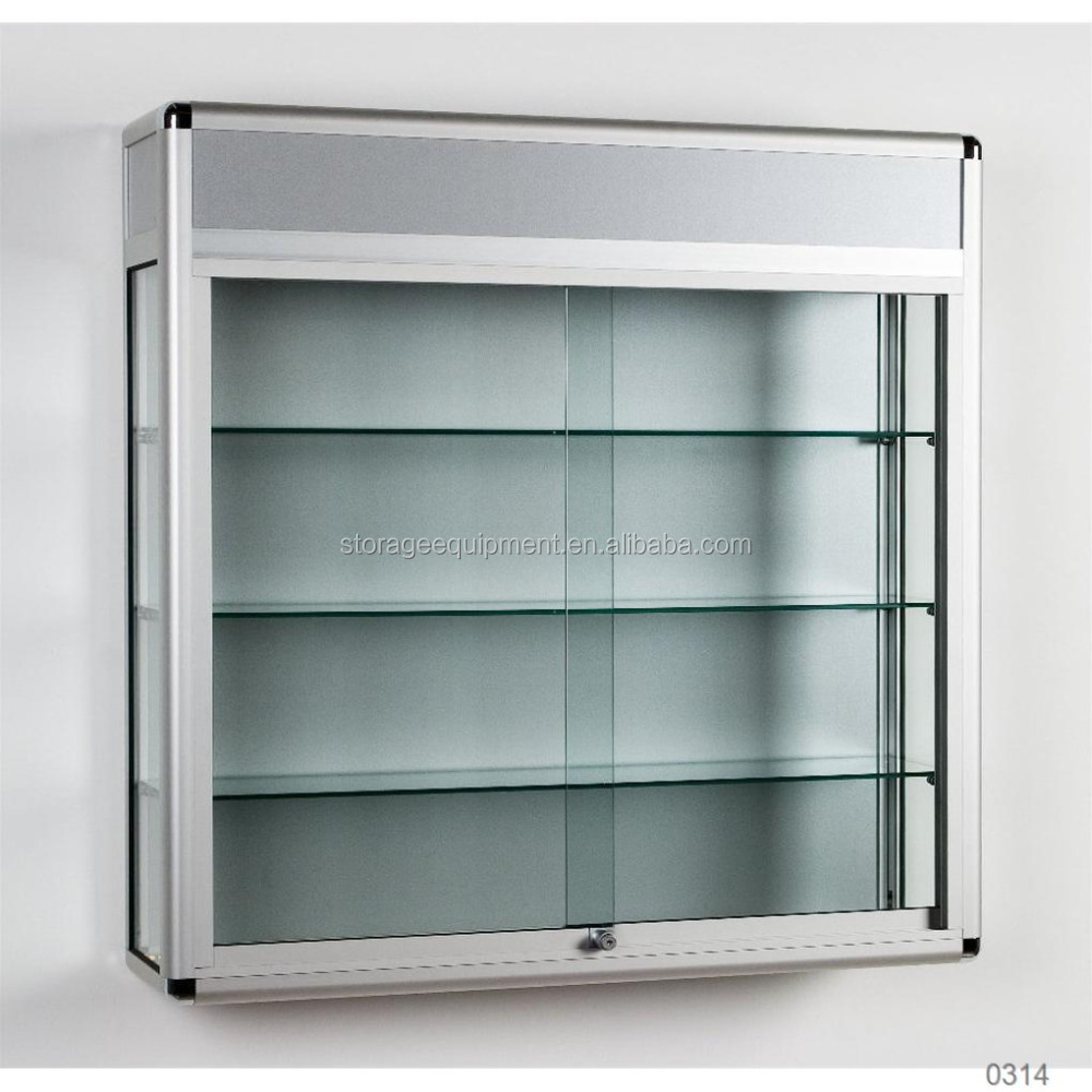 High capacity lighted glass display case for jewelry