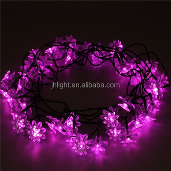 Deckey solar powered outdoor string lights 50 led lotus flower 224 deckey solar powered outdoor string lights 50 led lotus flower 224ft fairy lighting for garden aloadofball Images
