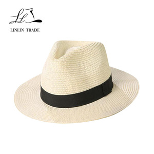 Folding beach summer cheap panama hats wide brim straw hat paper 4a8caf20982d