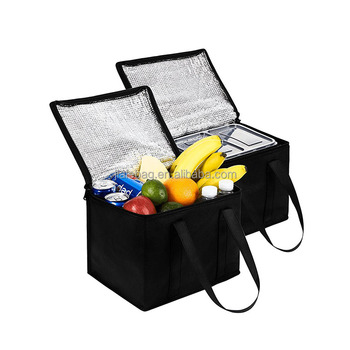 Wholesale Reusable Food insulated delivery aluminum cooler bag thermal bag