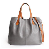 New Women Soft Cowhide Genuine Leather Tote Handbag Crossbody Bag