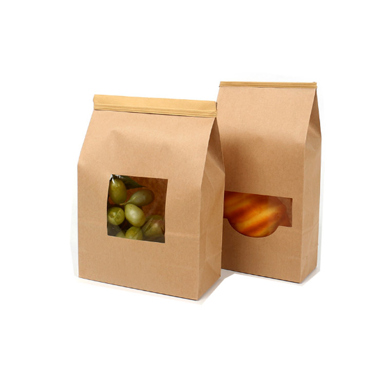 Fancy Recycled Full Printed Brown Paper Lunch Bags Product On Alibaba