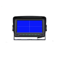 4-channel 7 inch Quad Display Rear View Car Monitor Reversing for Car truck bus