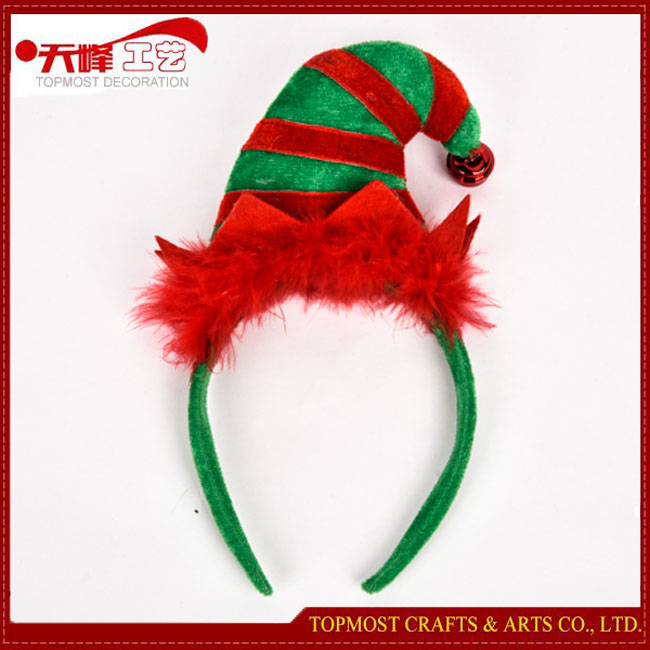 Plush Headband Xmas Hair Band 2016 Fabric Christmas Elf