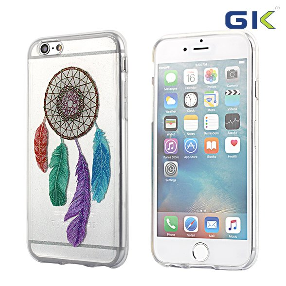 [GGIT] Ultra Transparent Epoxy Glitter Colorful Drawing TPU Cell Phone Case For IPhone 6 Cover