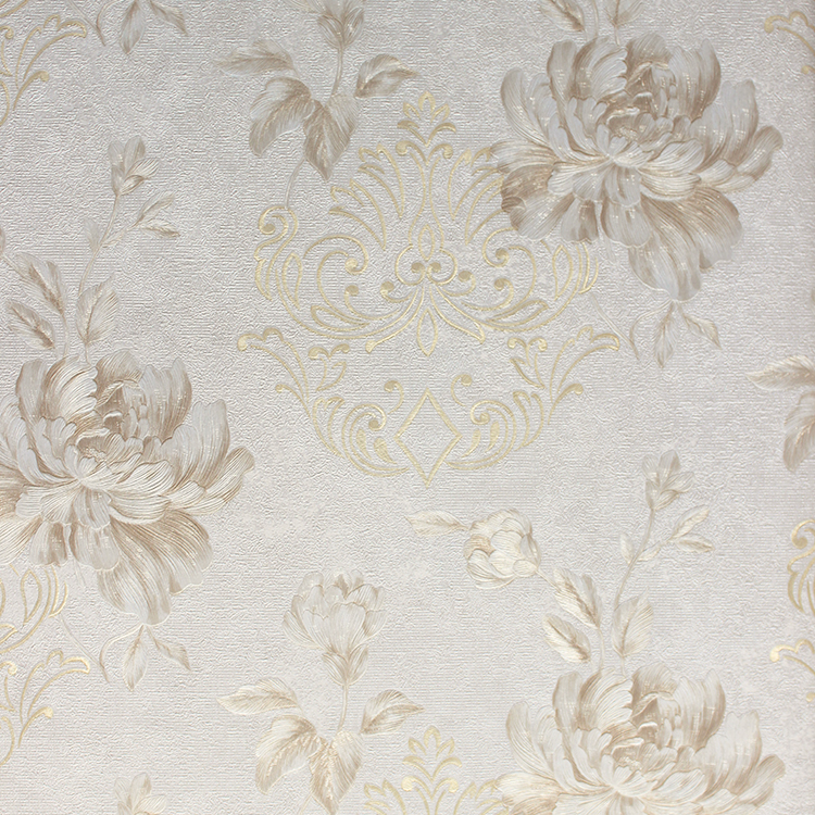 Special country design washable paper back vinyl wallpaper  natural wallpaper