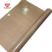 Anti-acid/corrosion-resistant/Heat-resistant PTFE Cloth Gloss Finish Fabric coated fiberglass cloth