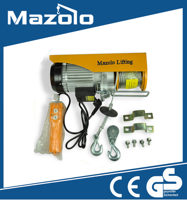 Professional Manufacturer mini electric chain hoist 200kg-1000kg