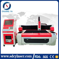 500w 1kw 2kw Jinan ChuangYa metal fiber laser cutting machine with best price