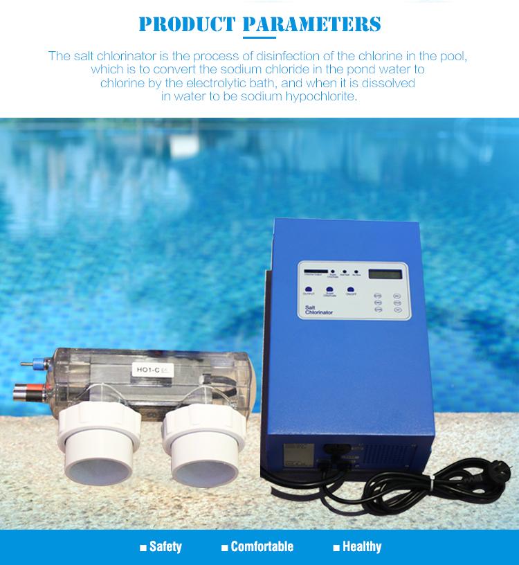 Pembersih Kolam Air Garam Chlorinator untuk Kolam Renang Desinfeksi Bersih