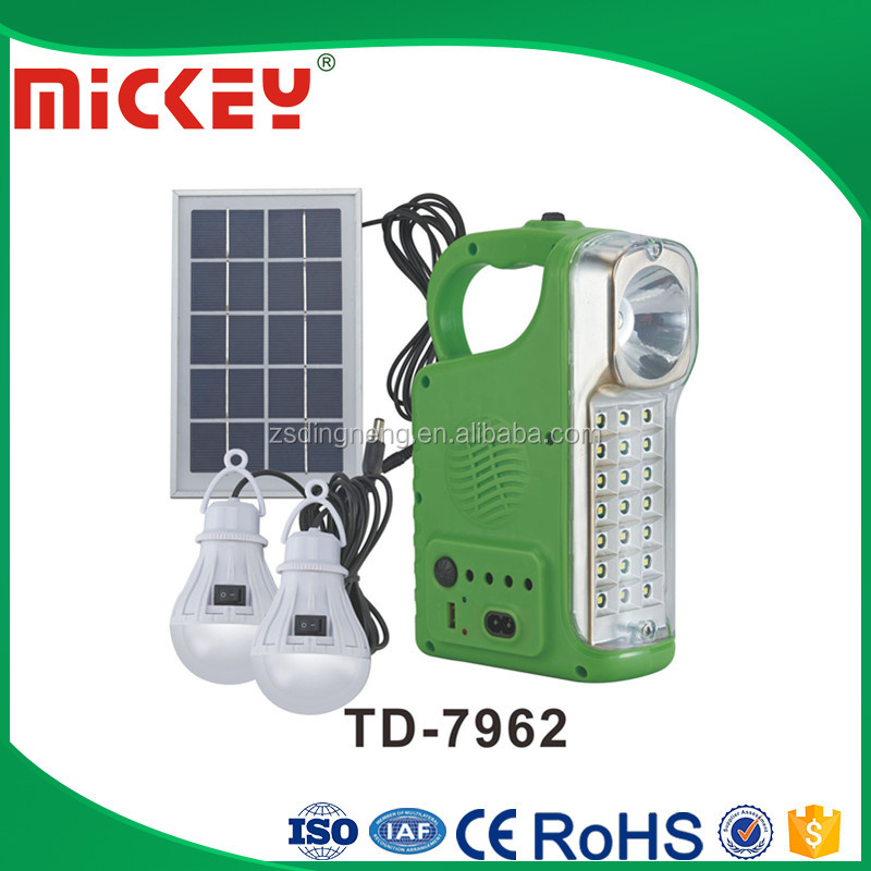 solar rechargeable emergency light camping light