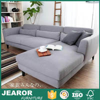 Contemporary 2 Piece Soft Reversible Chaise Fabric Sectional Sofa 3113