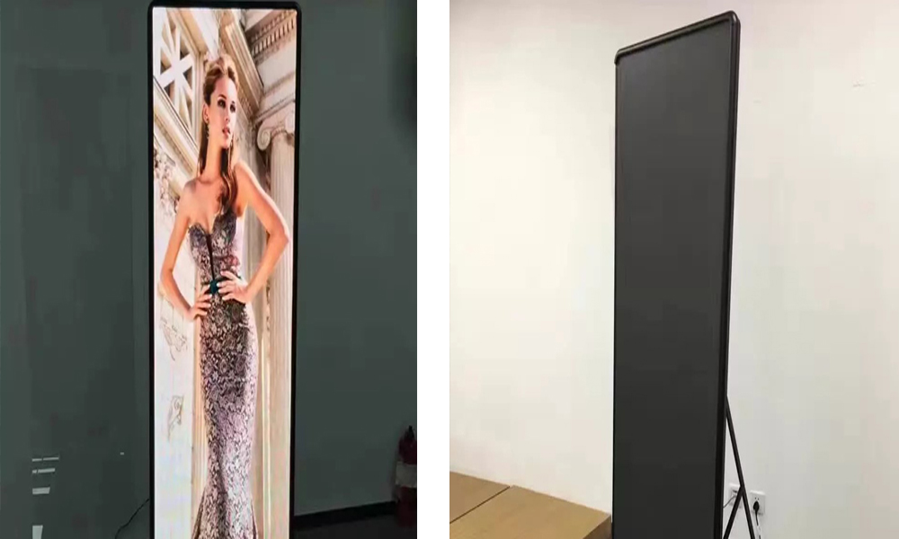 Indoor Poster HD P2.5 LED Display Screen Ultra Thin Interior Full Color High Definition Poster Screen