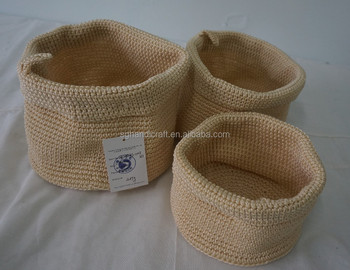 Disegno Polipropilene Filati Uncinetto Cestinohandmade Pp Crochet