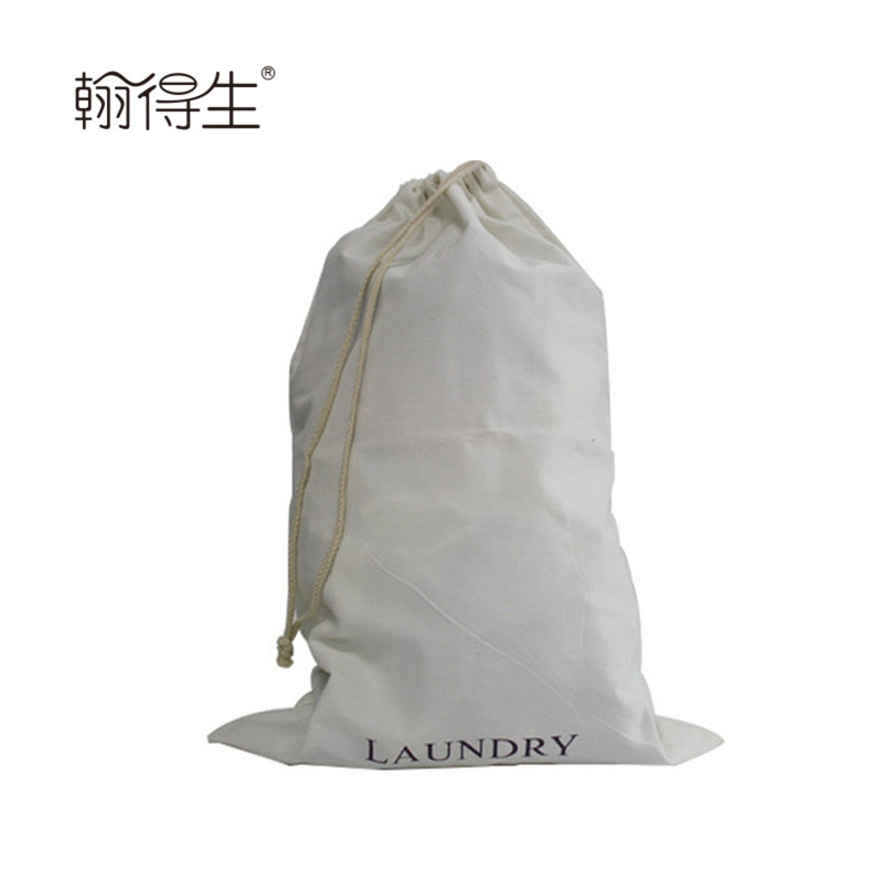 wholesale Moderate softness single string canvas laundry bag