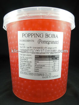 Pomegranate fruit juice boba