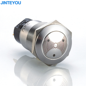 Waterproof 85DB Flash Alarm Metal Buzzer Switch