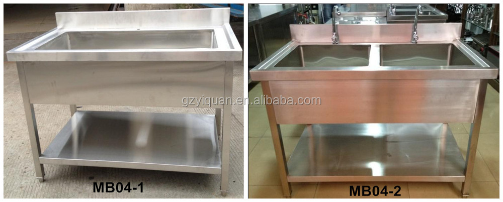 Restaurant Kitchen Sink detachable dish washing work table,restaurant kitchen sink table