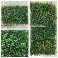 popular selling artificial grass wall with artificial flowers