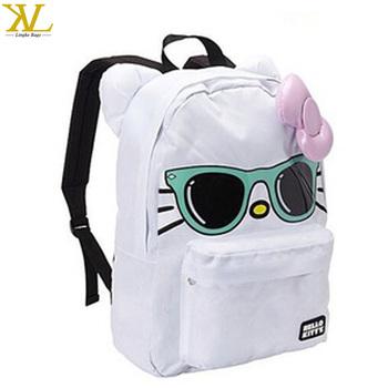 66cc0d74d Hello Kitty menta sol arco cara mochila, moda niños Hello Kitty bolso de  escuela