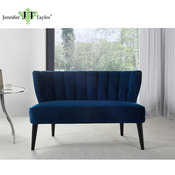 Furniture Factory One Piece MOQ Curved Back Comfortable Settee Sofa, Two  Seater Bench Sofa,