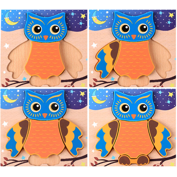 Learning English Wooden Toys for kids Grab board puzzle Wood Jigsaw Puzzle Educational kids toys