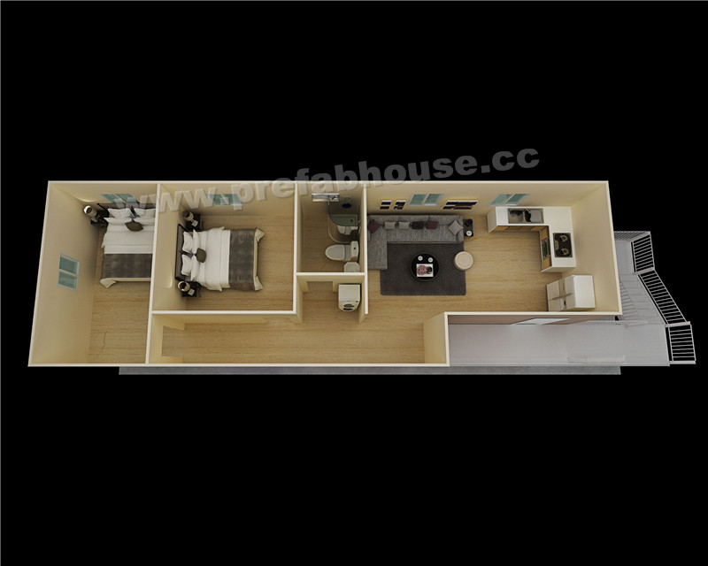 Manufactured modular homes well designed apartment prefab house