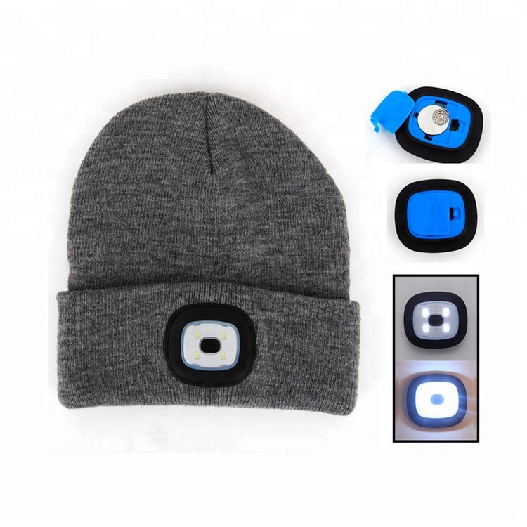 Usb Charger Or Cr2032 Battery Sport Camping Knit Hat With 4led Light Warm  Winter Hats - Buy Knit Hat 4led adf5e9dbfc3