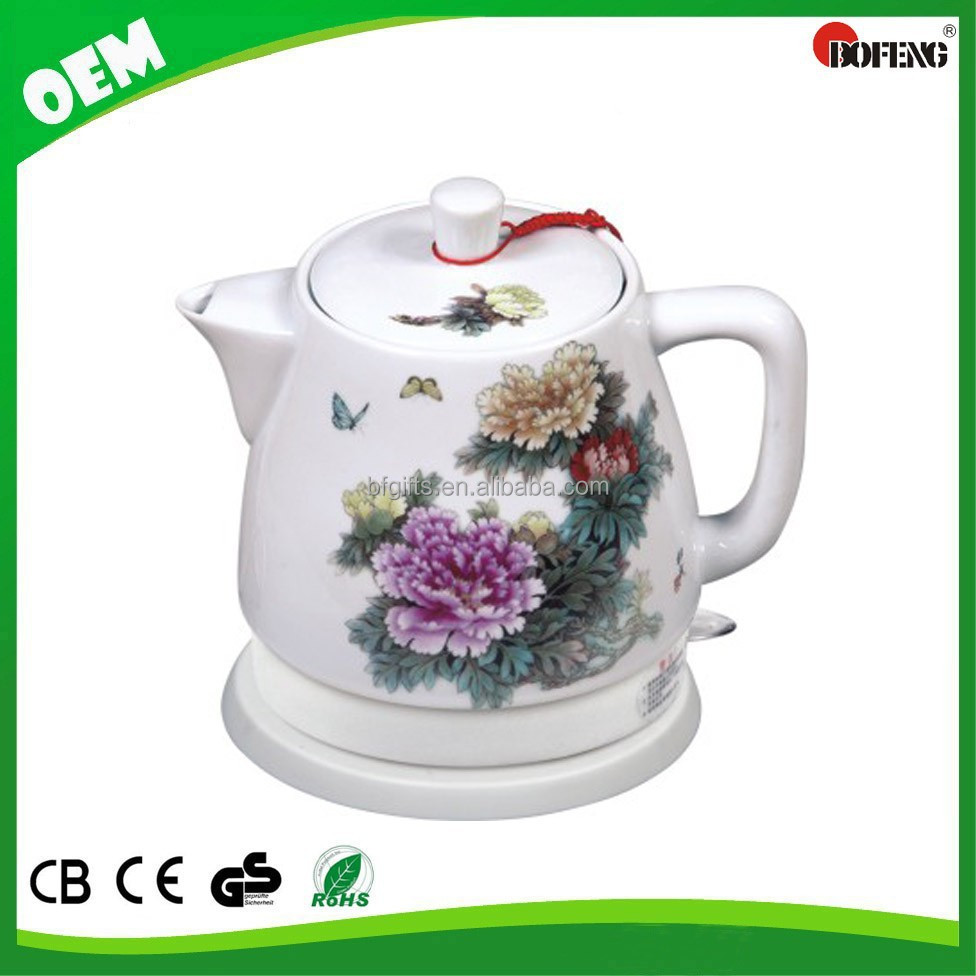 2015 Chinese porcelain electric tea kettle home teapots 1.2L ceramic electric kettle
