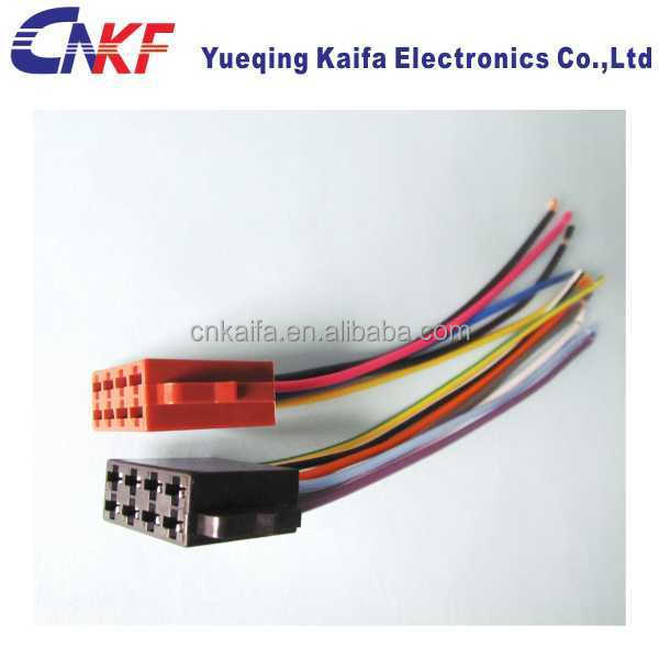 Auto Audio ISO Lead Wiring Harness Connector auto wire harness connector, auto wire harness connector suppliers OEM Wiring Harness Connectors at webbmarketing.co