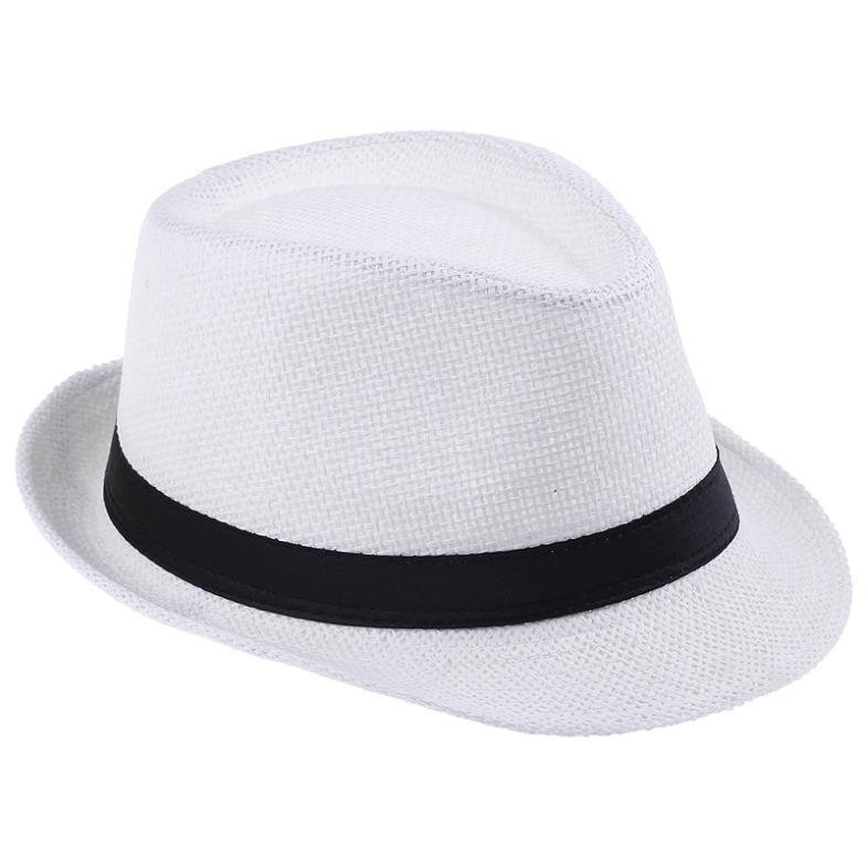 bd4b9137abc Get Quotations · 2015 Tea Party Church Hats For Women Men Summer Baby Straw  Beach Sun Floppy Bucket Sombreros