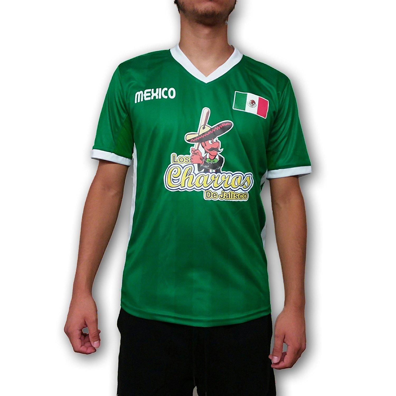 2a4ead24cdc Get Quotations · Los Charros de Jalisco Mexico Men s Baseball Jersey Hecho  en Mexico
