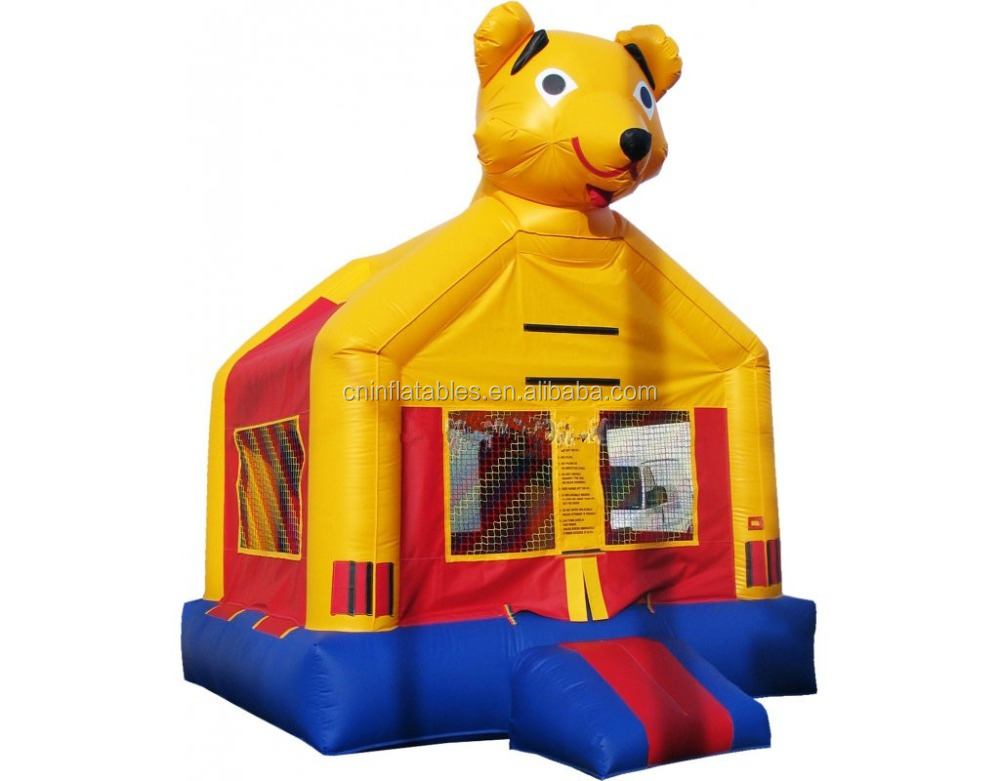 Cute Yellow Dog Moon bounce, sale cheap inflatable bouncy castle for kids and adults