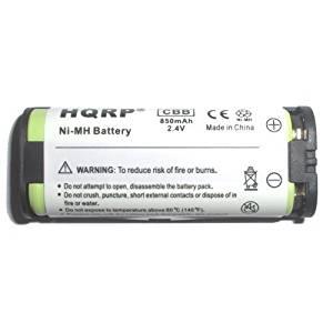 HQRP Phone Battery for Panasonic KX-TG5761S KX-TG5771S KX-TG5776S KX-TG5777PK KX-TG6700B KX-TG6702B KX-TGA572S KX-TGA670B Cordless Telephone plus Coaster