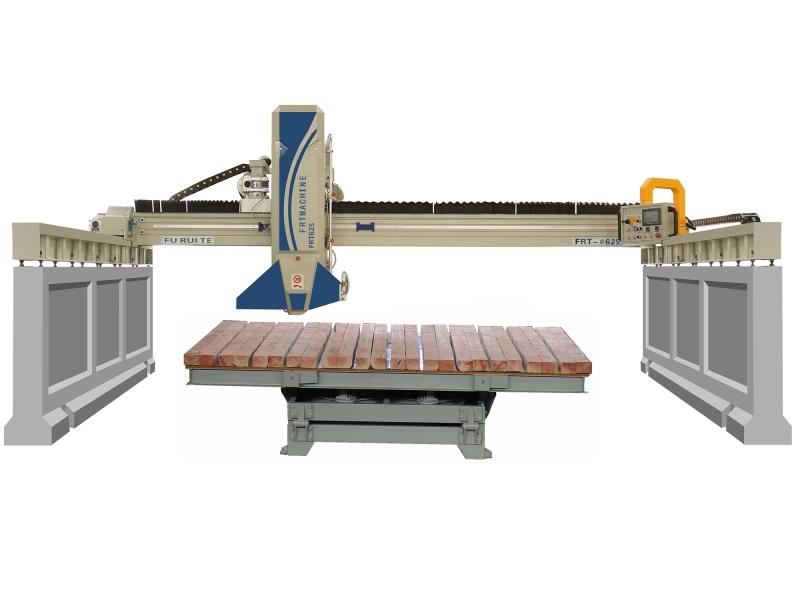stone bridge saw machine automatic marble granite slab sheet cutter tilt 45 degree cutting machines overseas after-sales on sale