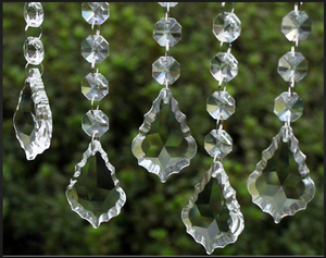 chandelier lighting crystal glass pendalogue pendant drops parts