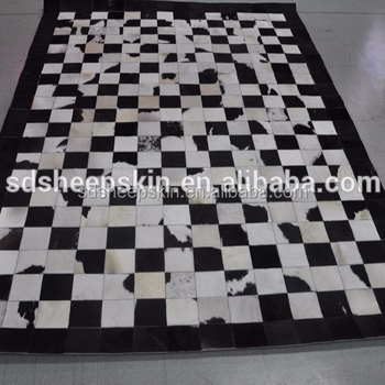 Natur Patchwork Kuhfell Teppich Kuh Haare Auf Teppich Leder Kuhfell