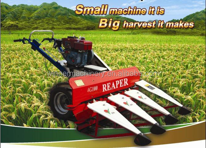 2014 hot sale high capacity small Barley harvester/mini barley harvesting machine/barley reaper