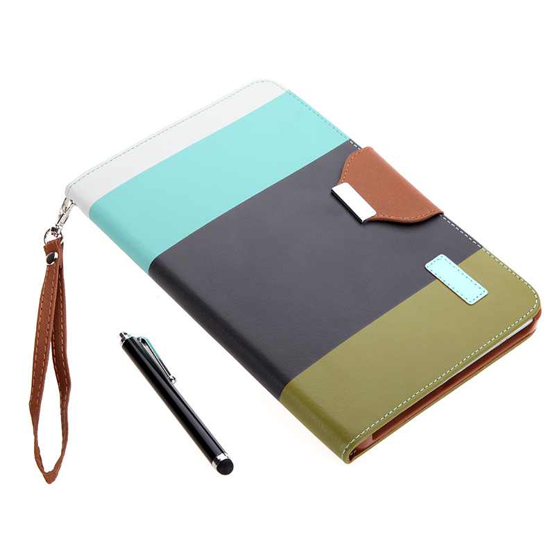 Big Sales Magnetic Flip Wallet Smart Cover Stand Case for iPad mini PU Leather Hybrid Color Wake/Sleep Gift Stylus Pen Black