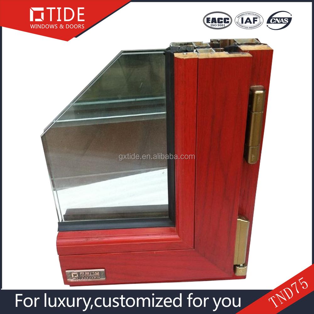 La instalaci n exterior ventana de ajuste - De Madera Con Marco De Aluminio Ventana Redonda Apertura Hacia El Exterior Ventana Abatible