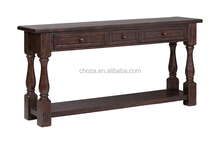 F50368A-1High quality Italian style wooden furniture wood carved console table